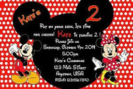 mickey mouse party invitation details about mickey mouse birthday invitation minnie mouse birthday invitation party supply