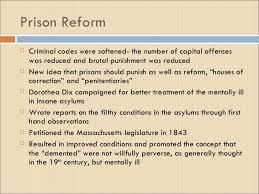 antebellum reform movements prison reform