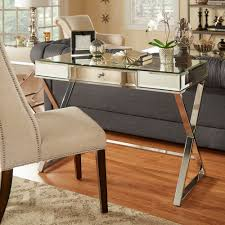 Omni X-base Mirrored Top 1-drawer Campaign Desk by iNSPIRE Q Bold by  iNSPIRE Q