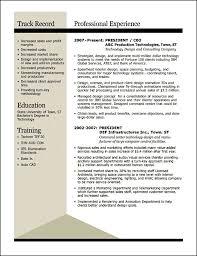 Award Winning Resume Examples