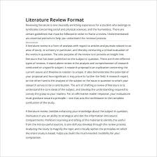Literature Survey Example Template Samples Magnificent