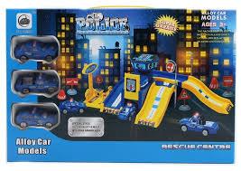 Shantou Gepai Игровой <b>набор</b> Парковка <b>Полиция</b>, 3 <b>машинки</b> ...