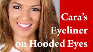 cara delevingne cat eye flick feline eye liner makeup tutorial on hooded and downturned eye you