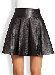 Milly Delphine Quilted Fit Flare Leather Skirt | Where to buy ... & ... Milly Delphine Quilted Fit Flare Leather Skirt Adamdwight.com