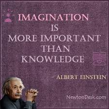 Imagination And Knowledge Newton Desk Quotes