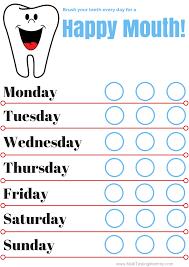 Teeth Brushing Chart Tooth Brushing Chart Multi Testing Mommy