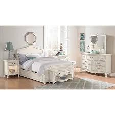 NE Kids Kensington Charlotte Antique White Upholstered Full-size Trundle Bed  (Charlotte (Panel