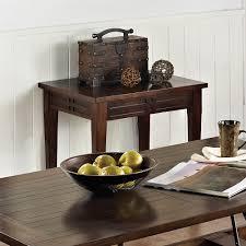 steve silver crestline 3 piece coffee table set in distressed walnut
