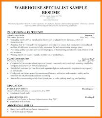 sample resume supervisor position sample resume for warehouse supervisor position of here are