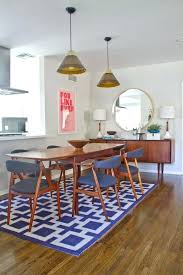 dining table rug mid century dining table graphic rug fantastic credenza iconic white and walnut lamps dining table rug
