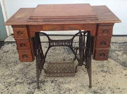 singer treadle cabinet oak sewing machine model vintage antique 7 drawer wood