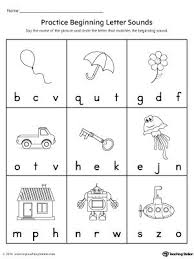 These preschool phonics worksheets are as fun as they are useful. Practice Beginning Letter Sound Worksheet Phonics Kindergarten Kindergarten Phonics Worksheets Preschool Phonics