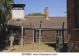 barbed wire fence concentration camp. Brilliant Concentration Barb Wire Fence And Building With A Guard Tower Inside The Auschwitz I  Former Nazi Concentration Camp Poland With Barbed Wire Fence Concentration Camp P
