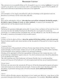 Sample Roommate Contract Sample Roommate Contract Template Free Room Lease Agreement Crevis Co