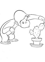 Curious George Coloring Pages Free Printable Cartoon Coloring