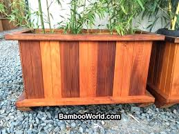 diy wood flower boxes large planter box plans long planter box large stained cedar planter box