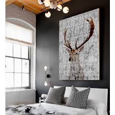 highlands stag canvas art by palm valley  notonthehighstreetcom