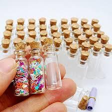50pcs 1ml small mini glass bottles jars with