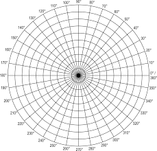 Free Printable Polar Coordinate Graph Paper Grid In Degrees
