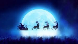 santa claus and reindeer flying. Santa With Reindeer Flying Over The Trees Christmas Concept Inside Claus And