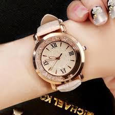 <b>New ladies watch</b> Rhinestone Leather Bracelet Wristwatch <b>Women</b> ...