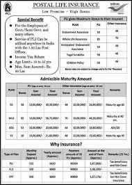 Pli endowment assurance premium table : Postal Life Insurance Benefits Po Tools