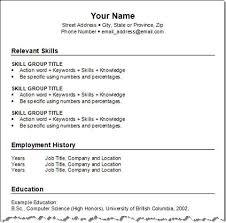 Resume Free Resume Format Economiavanzada Com