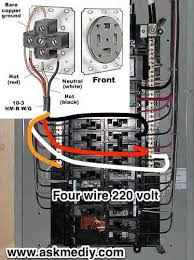 how to install a 220 volt 4 wire outlet askmediy four wire 220 outlet from panel