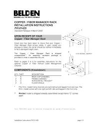 copper fiber manager rack installation instructions px101425 manualzz