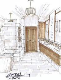 bathroom interior design sketches. Delighful Interior The Chameleons Of Interior Design Louvered Doors On Bathroom Design Sketches O
