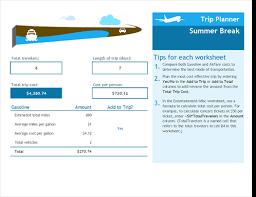 Trip Planner Excel Trip Planner