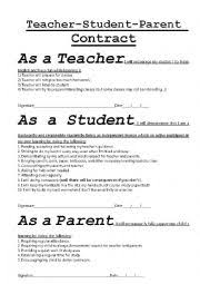 List Of Synonyms And Antonyms Of The Word: Student Contract