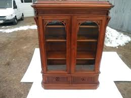 architecture antique walnut bookcase with glass doors amazing oversized large mahogany throughout 0 from antique