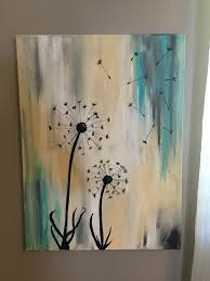 Acrylic dandelion painting custom colors and sizes rocky8662@hotmail.com  18x24 $45