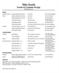 Astounding Costume Designer Resume 98 For Modern Resume Template