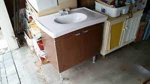Vintage Mid Century Modern Bathroom Vanity 1960s Early 1970s Ebay