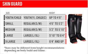 Shin Guard Size Chart Gel Shin Instep Free Style