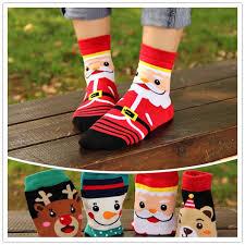 2019 New Christmas <b>Cartoon Santa Elk</b> Happy Socks 4 Designs ...