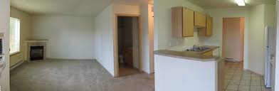 living room kitchen bedroom panorama