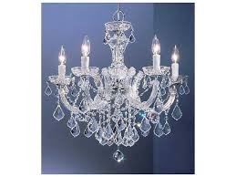classic lighting corporation rialto chrome five light 22 wide chandelier