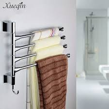 towel rack. Xueqin Wall Mounted Bathroom Towel Rack Swivel 3 Lyer Clothes Storage Holder Shelf Stainless Steel