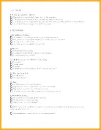 Birth Plan For C Section Template Simple Birth Plan Template
