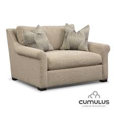 chair and a half.  And Living Room Furniture  Robertson Cumulus Chair And A Half Beige To And A