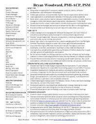 ... Resume - Software Development Manager. Bryan Woodward, PMI-ACP, PSM  Bryan Woodard Phone (763) 232- ...