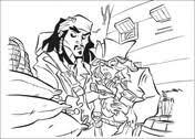 Piraat Jack Met Verrekijker Kleurplaat Gratis Kleurplaten Printen