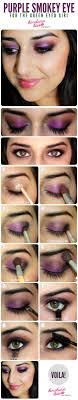 creative makeup tutorials purple smoky eyes