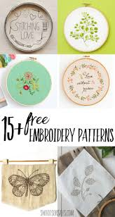 Free Embroidery Designs To Print 15 Free Hand Embroidery Patterns Swoodson Says