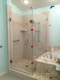 glass shower door hinges glass to wall hinge shower door with inline panel and return notched