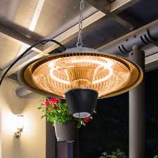hanging patio heater. Outsunny Patio Heater Ceiling Hanging Light 1500W Pull Switch Electric Aluminium