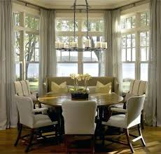 kitchen bay window treatments. Modren Kitchen Custom Kitchen Curtain Ideas Incredible Bay Window Curtains  With Other In Dining Intended Kitchen Bay Window Treatments